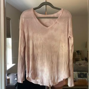 AE Soft & Sexy ribbed pink tie dye shirt